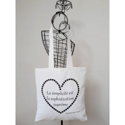 Tote bag femme, citation Simplicité