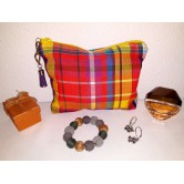 Trousse maquillage madras antillais
