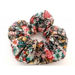 Chouchou cheveux motif floral