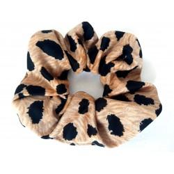 Chouchou cheveux léopard beige/noir