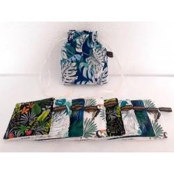 Lingette démaquillante lavable coton imprimé jungle