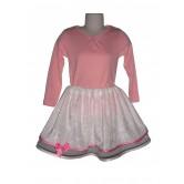 Jupe velours blanc doublée de tulle rose