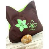Sac cabas réversible green flowers