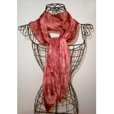 Foulard mousseline de soie bordeaux