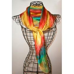 Foulard mousseline de soie exotique
