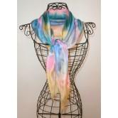 Foulard mousseline de soie aurore