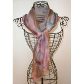 Foulard mousseline de soie vieux rose