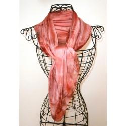 Foulard mousseline de soie bordeaux clair
